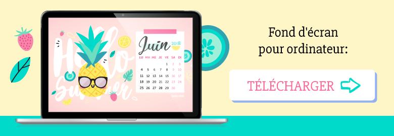 🍍Télécharge gratuitement ton calendrier pour juin 2018 pour ton ordinateur, avec Anna l'ananas qui est prête pour l'été ! Sur ⭐️Goodie Mood, le blog feel good et créativité #wallpaper #calendrier #juin #hellosummer #ete #gratuit #printable #goodie #ananas #illustration