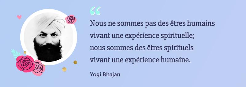 "🍀 Citation du Yogi Bhajan ""Nous ne sommes pas des êtres humains vivant une expérience spirituelle; nous sommes des êtres spirituels vivant une expérience humaine."" #citation #proverbe #yoga #spiritualité #chakra #univers #esoterisme #énergie #yogiBhajan"