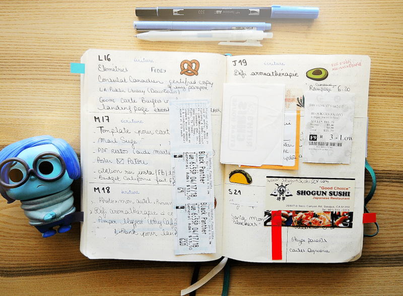 🦄✔️Photos de mon Bullet Journal. Sur Goodie Mood, le blog Feel Good et Créativité #BuJo #bulletJournal #creativite #organisation #planning #tracking #sohohana #goodiemood #blogfille #methode #motivation