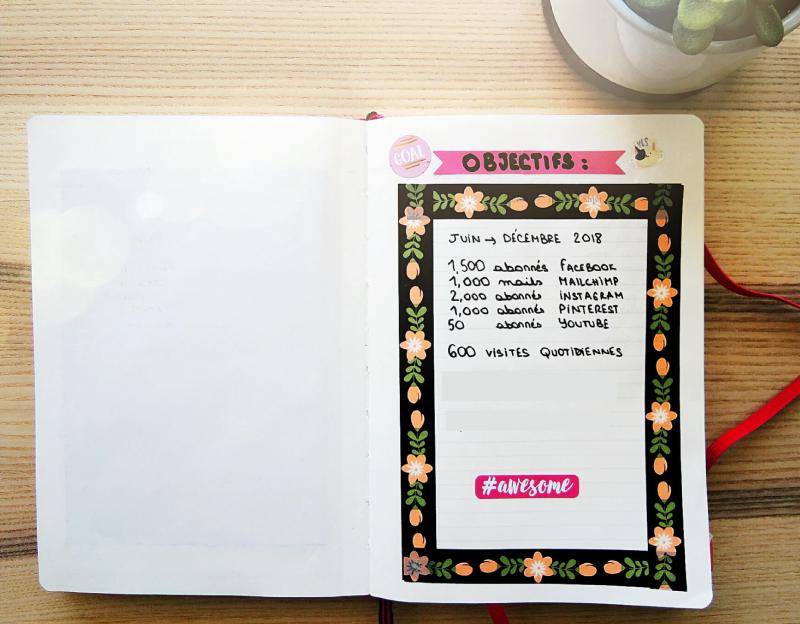 🦄✔️Photos de mon Bullet Journal. Sur Goodie Mood, le blog Feel Good et Créativité #BuJo #bulletJournal #creativite #organisation #planning #tracking #sohohana #goodiemood #blogfille #methode #motivation