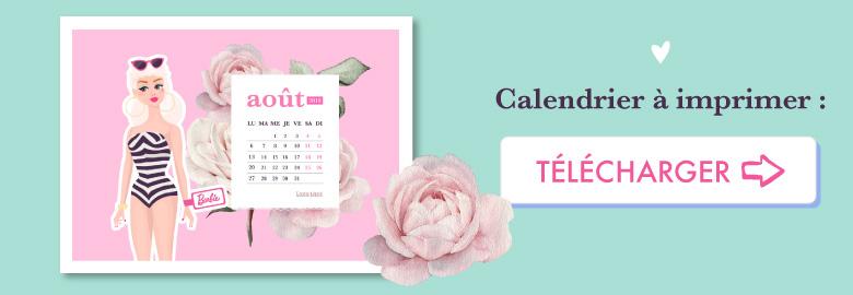 💗 Télécharge gratuitement ton wallpaper BARBIE pour août 2018 à imprimer en format A4 !⭐️ Sur Goodie Mood, le blog Feel Good et Créativité #Barbie #poupee #doll #illustration #dessin #vector #designGraphique #wallpaper #calendrier #aout #rose #fleur #cute #blog #gratuit #goodie #cadeau #inspiration #sourire #vintage #collage #composition