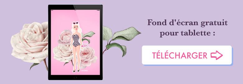 💗 Télécharge gratuitement ton wallpaper BARBIE pour août 2018 pour ta tablette ! ⭐️ Sur Goodie Mood, le blog Feel Good et Créativité #Barbie #poupee #doll #illustration #dessin #vector #designGraphique #wallpaper #calendrier #aout #rose #fleur #cute #blog #gratuit #goodie #cadeau #inspiration #sourire #vintage #collage #composition