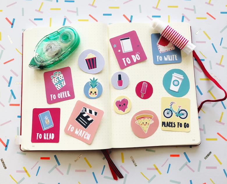 🦄FREE PRINTABLE pour ton BULLET JOURNAL ! Imprime et colle ces images gratuitement pour égayer ton BuJo. Sur Goodie Mood, le blog Feel Good et Créativité ⭐️ #BulletJournal #buJo #Free #FreePrintable #Printable #cadeau #gratuit #imprimer #Décoration #todolist #organisation #creativite #graphisme #blog #cute #mignon #adorable