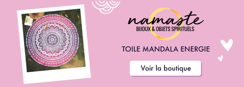 Boutique en ligne Namasté - Toile murale Mandala Rose