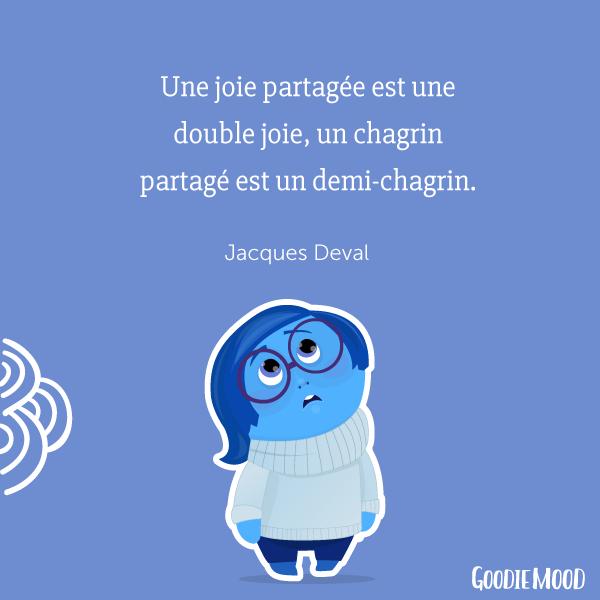 """""""Une joie partagée est une double joie, un chagrin partagé est un demi-chagrin."""" Jacques Deval 💫 50 citations inspirantes pour rester motivée et être de bonne humeur ! ⭐️ Sur Goodie Mood, le blog Feel Good et Créativité 💗 #citation #proverbe #blog #illustration #graphisme #designgraphique #inspiration #motivation #bienetre #bonnehumeur #optimisme #positif #phrases #fille #girly #printable"""