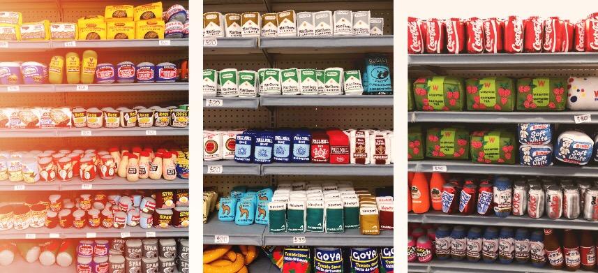 🦕Visite du Sparrow Mart à Los Angeles : le supermarché rempli de produits en feutrine par l'artiste Lucy Sparrow ⭐️ Sur Goodie Mood le blog Feel Good et Créativité #sparrowmart #lucysparrow #losangeles #californie #feutrine #couture #supermarché #supermarket