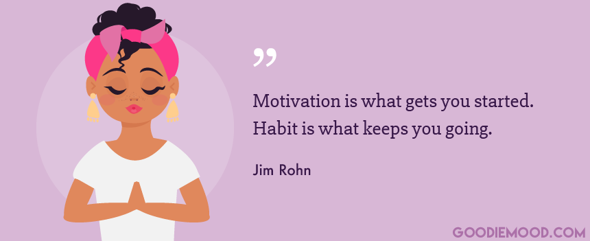 Citation about motivation Jim Rohn - Goodie mood