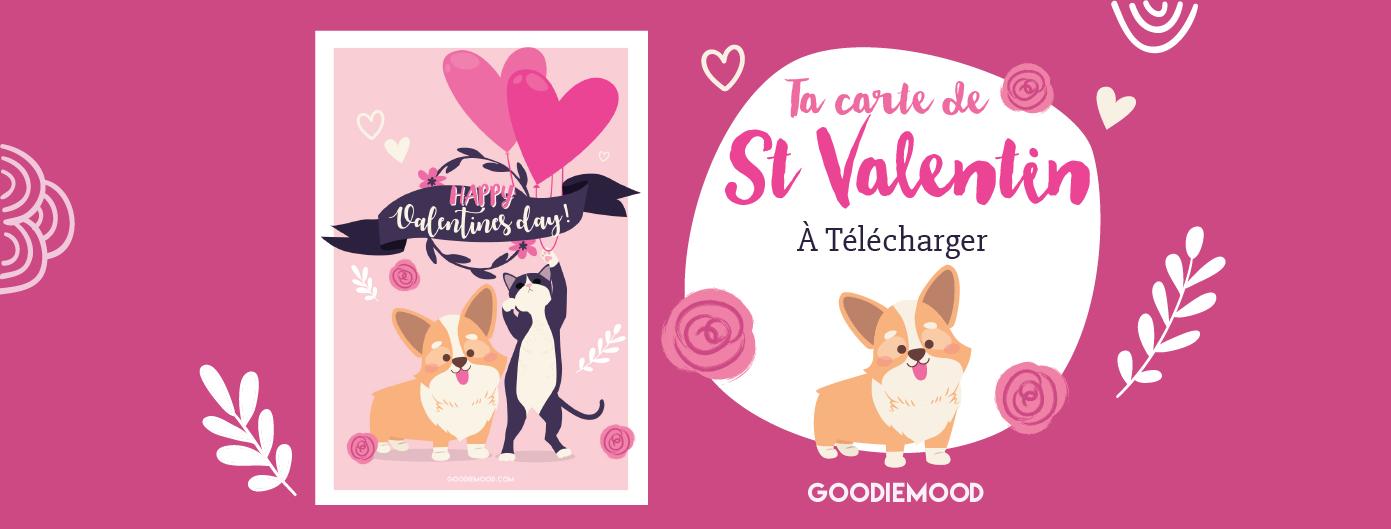 Ta carte de St Valentin gratuite à imprimer !