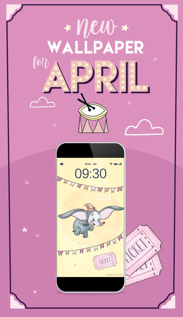 Clique pour télécharger ton fond d'écran gratuit Dumbo ! #dumbo  #Disney #wallpaper #free #cute #adorable #feelgood #cadeau #goodie #printable #pastel