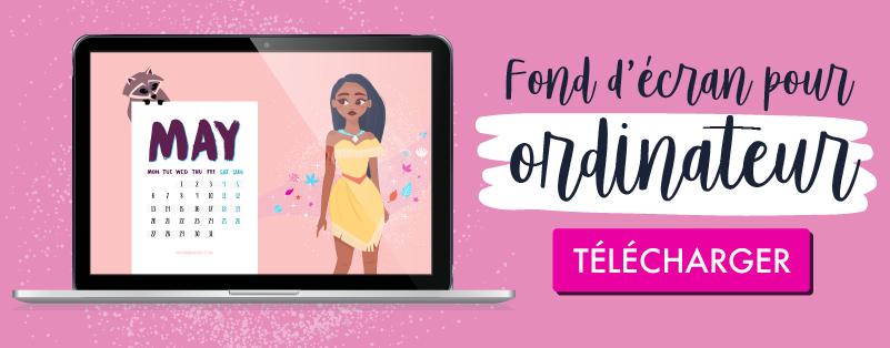 Télécharge ton calendrier pour mai 2019 gratuit Disney pour ordinateur