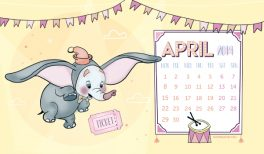 Free wallpaper of cute baby Dumbo !