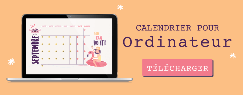 "Fond d'écran calendrier pour septembre 2019 ""You Can Do It"" gratuit pour ordinateur"