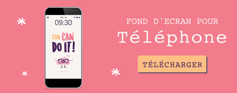 "Telechargez le fond d'écran pour septembre 2019 ""You Can Do It"" gratuit pour telephone"
