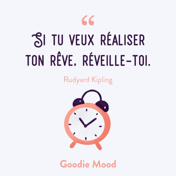 """""""Si tu veux réaliser ton rêve, réveille-toi."""" #citation #inspiration #feelgood #reve"""