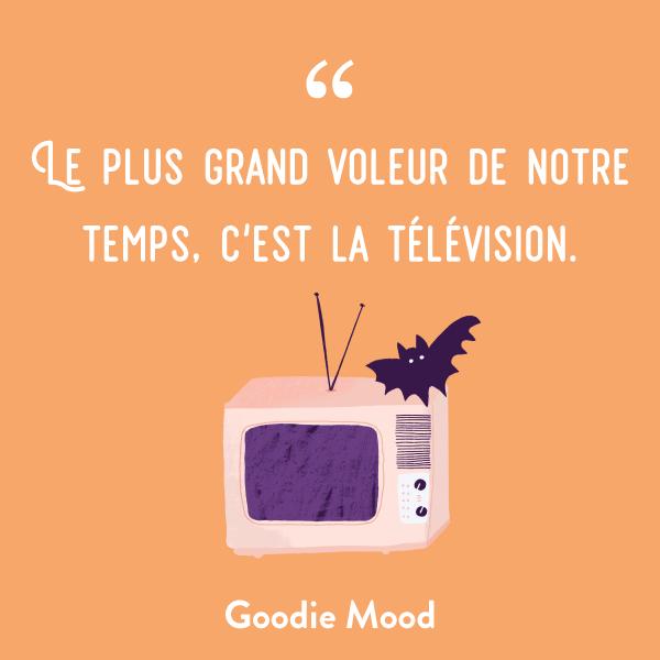 """""""Le plus grand voleur de notre temps, c'est la télévision."""" #citation #inspiration #feelgood"""