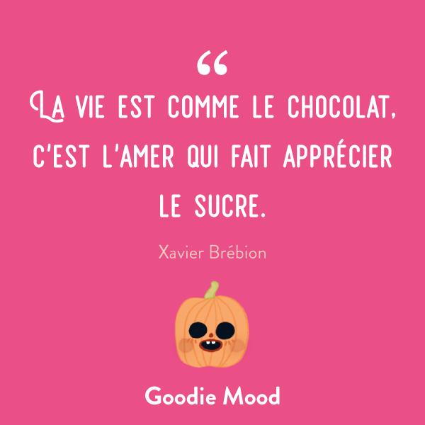 """""""La vie est comme le chocolat, c'est l'amer qui fait apprécier le sucre."""" #citation #feelgood #inspiration"""