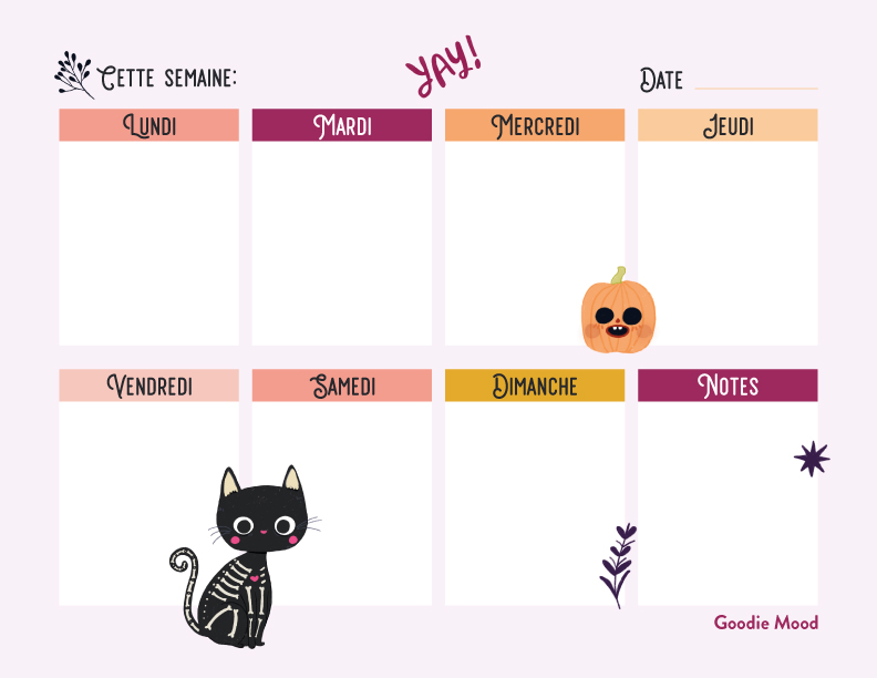 Goodie gratuit Halloween - Goodie Mood