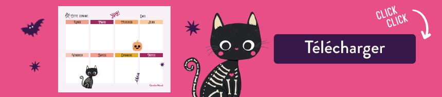 Cliquez pour télécharger votre semainier d'Halloween gratuit sur Goodie Mood !