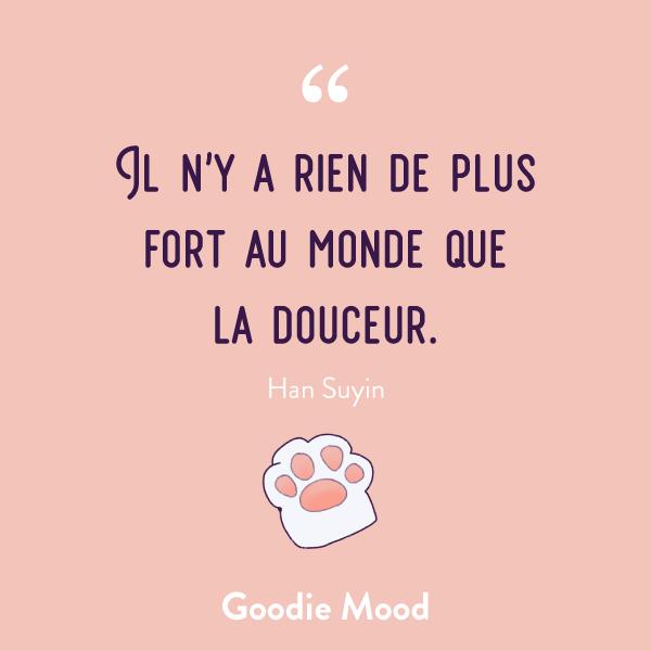 """""""Il n'y a rien de plus fort au monde que la douceur."""" #citation #douceur #feelgood"""