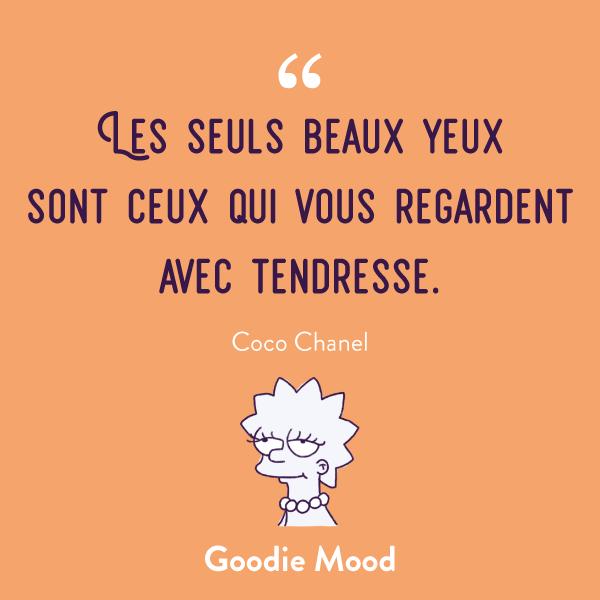 """""""Les seuls beaux yeux sont ceux qui vous regardent avec tendresse."""" #citation #cocochanel #chanel #beaute"""