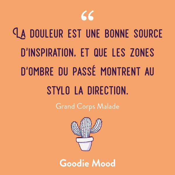 Citation de Grand Corps Malade #citation #douleur #inspiration