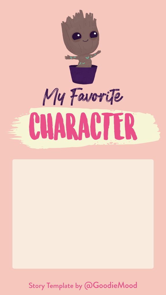 Free Instagram Story Template - My favorite fictional character