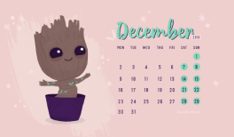 Telechargez votre calendrier wallpaper gratuits decembre 2019 I am groot - Goodie Mood - blog feel good #iamgroot #wallpaper #decembre #noel