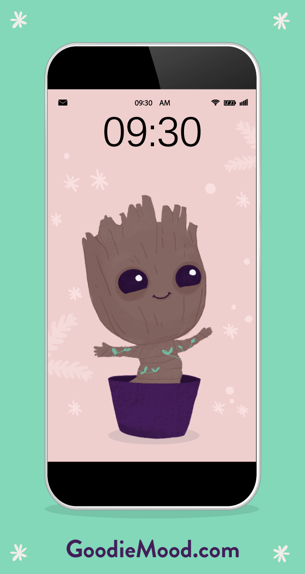 "Download your Free wallpaper & calendar ""baby Groot"" for December !"