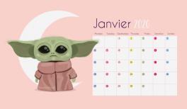 """Téléchargez le fond d""""écran gratuit Baby Yoda pour Janvier 2020 sur Goodie Mood ! #yoda #babyyoda #wallpaper"""
