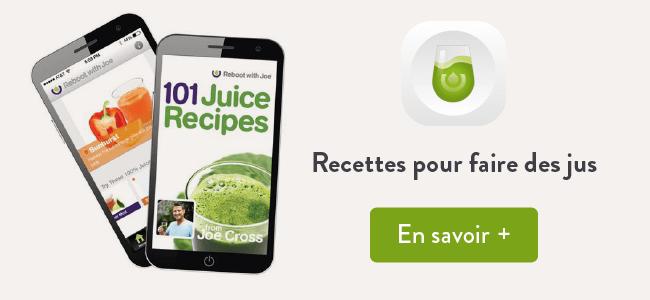 Mes applis préférées : 101 juices pour des recettes de jus