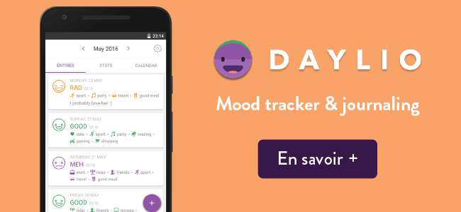 Daylio application sur iPhone - mood tracker and journaling