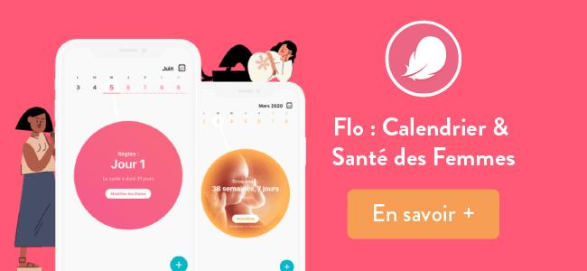 Flo : appli iphone - calendrier cycles féminins - santé