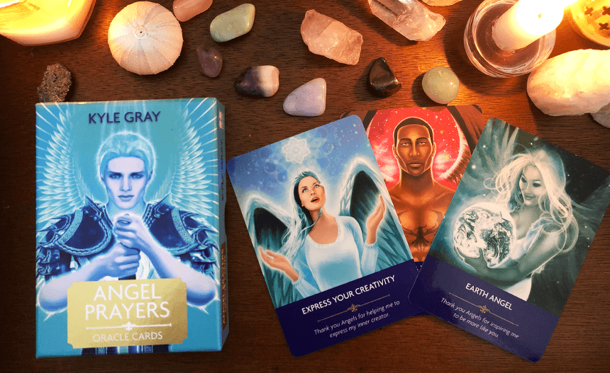 Angel Prayers Oracle Cards, Kyle Gray, photo of the deck
