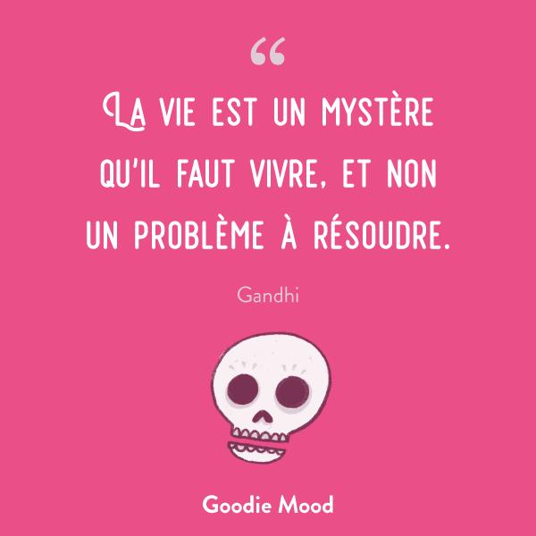 La vie est un mystère qu'il faut vivre, et non un problème à résoudre.