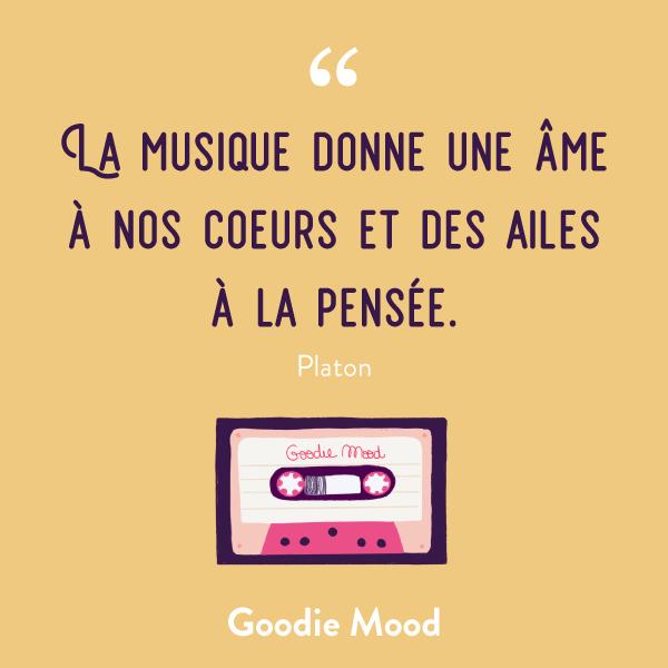 La musique donne une âme à nos coeurs et des ailes à la pensée. - platon