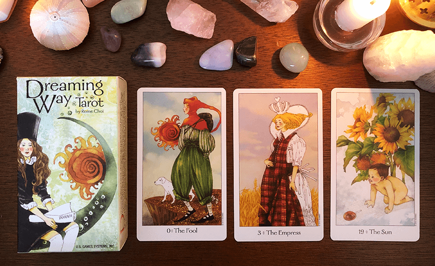 Dreaming Way Tarot, photo of the deck