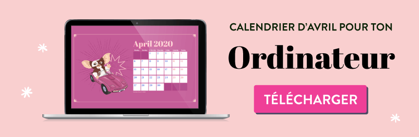 Fond d'écran et calendrier Gremlins pour avril 2020 #wallpaper goodiemood le blog feel good