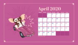 Fond d'écran et calendrier Gremlins pour avril 2020 #wallpaper goodiemood le blog feel good