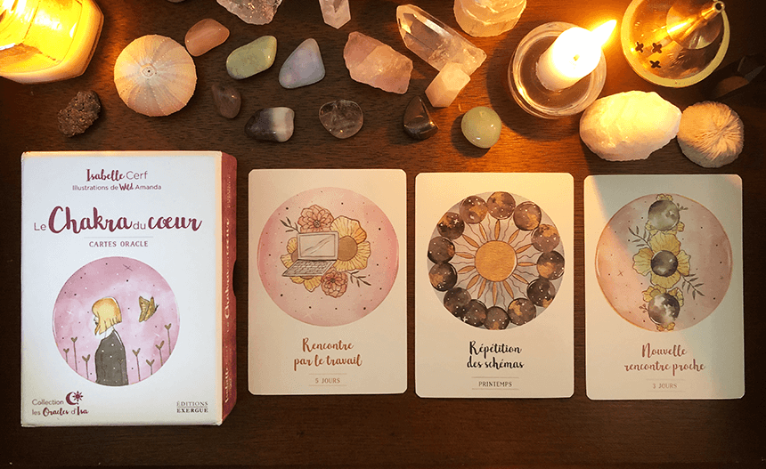Le Chakra du Coeur, cartes oracles, Isabelle Cerf, Les oracles d'Isa, photo of the deck