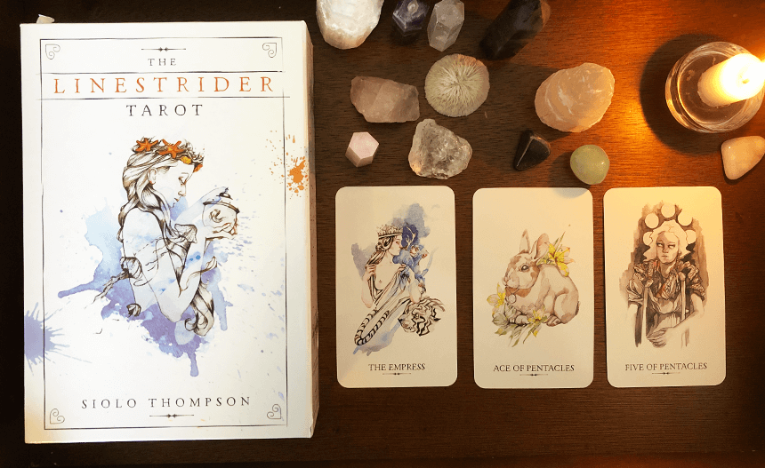 The Linestrider Tarot, photo of the deck
