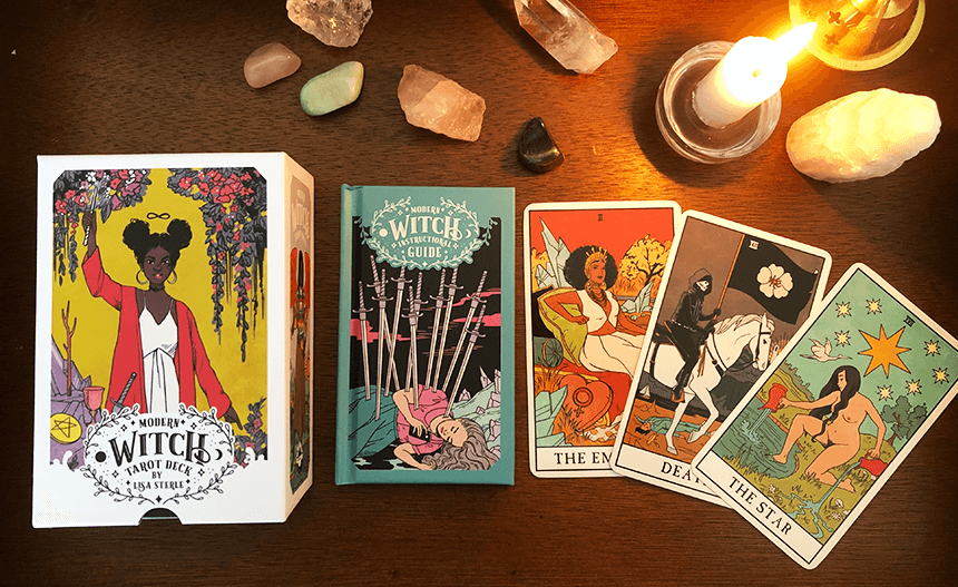 Modern Witch Tarot Deck, photo of the deck