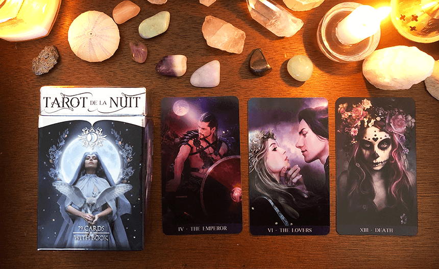 Tarot de la Nuit, photo of the deck