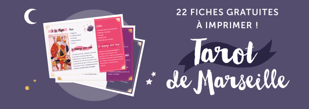 22 fiches explicatives du tarot de marseille avec Yes We Cards et Goodie Mood