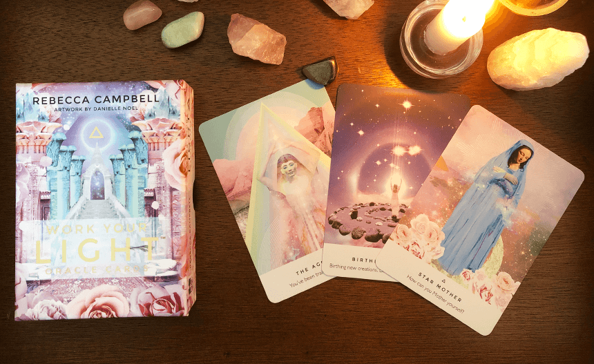 Work Your Light Oracle Cards, photo of the deck