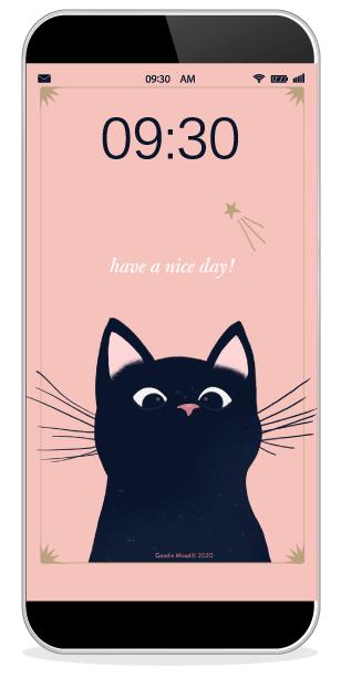 """Téléchargez le fond d'écran wallpaper pour mai 2020 petit chat noir"""" sur goodie mood"""