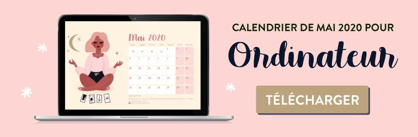 Téléchargez le fond d'écran calendrier pour mai 2020 sur le thème de la magie du tarot sur goodie mood