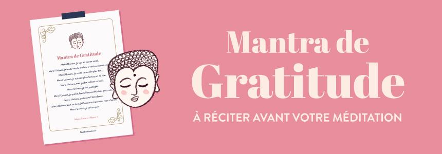 Mantra / prière de gratitude à réciter avant la méditation