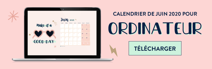 Telechargez le calendrier Make it a good day pour ordinateur
