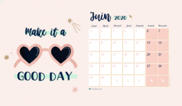 Telechargez le calendrier Make it a good day pour juin 2020 goodie mood