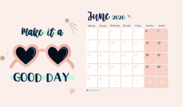 Download the illustrated wallpaper for june 2020 - calendar - goodie mood